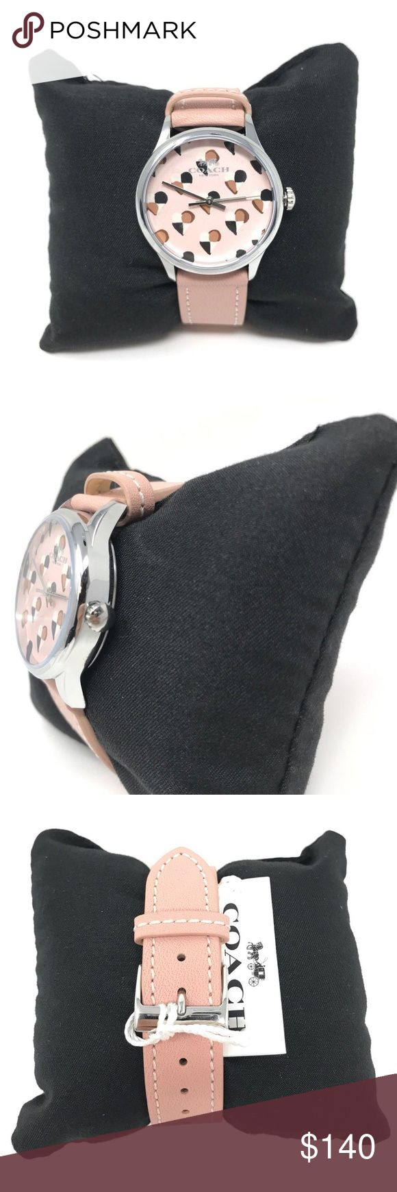 Coach Ruby Leather Strap Light Pink Women's Watch Coach Ruby Leather Strap 14502983 W1546 Light Pink Women's Watch  item# 273090081575  100% Authentic Coach!  Buy with confidence!  • MSRP: $175.00  • Style: 14502983  Features:  • Stainless steel case and leather strap  • Approx. case diameter: 32mm  • Quartz movement  • Mineral crystal  • Buckle closure  • Water-resistant to 99 feet  Please feel free to ask any questions. Happy shopping! Coach Accessories Watches