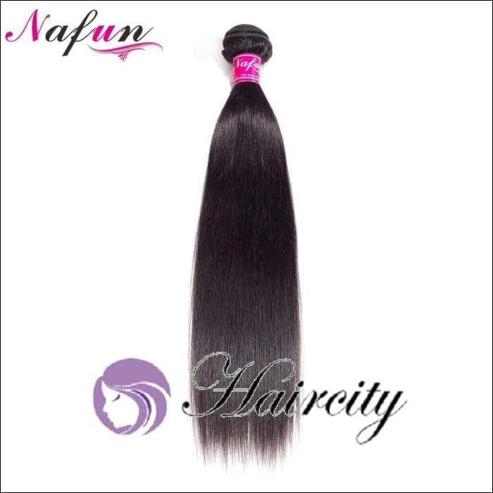 NAFUN Hair Straight Hair 1 Bundles Natural Color 100% Human Hair Extensions Peruvian Hair 8-26 Inch Weave Non Remy