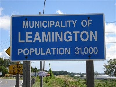 Minicipality Of Leamington - Ontario, Canada - Population Signs on ...