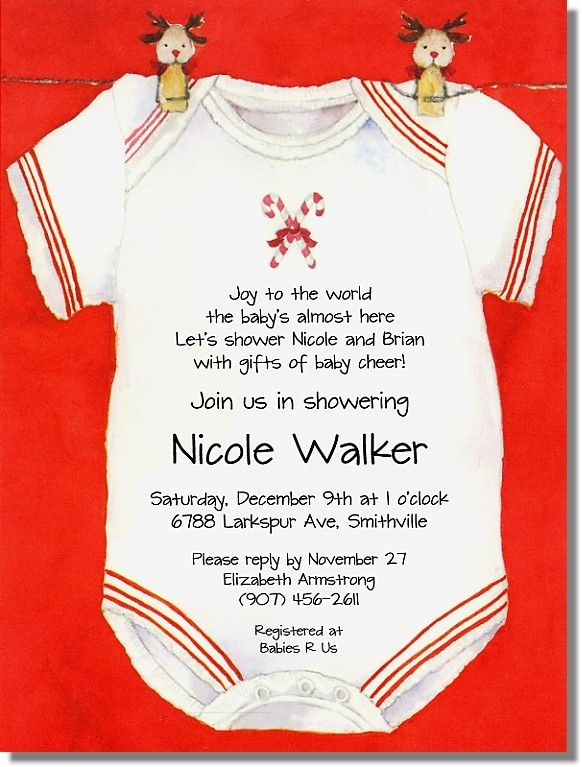christmas onesie baby shower invitations themed baby showers babies