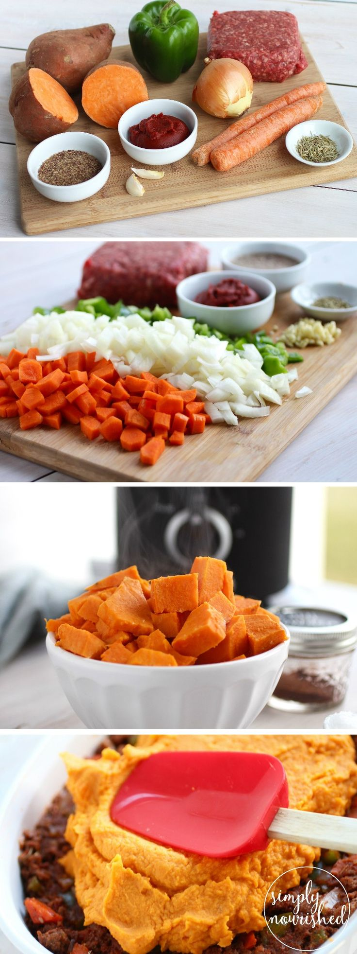 Shepherd's Pie with Sweet Potato Topping | paleo, gluten-free, grain-free, dairy-free, whole 30 | http://simplynourishedrecipes.com/shepherds-pie/