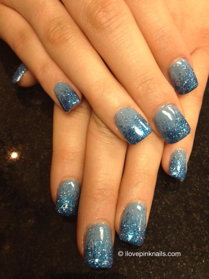 Blue Rock Star Fade Nails