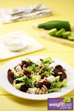 Healthy Salad Recipes: Beetroot and Feta Salad. #HealthyRecipes #DietRecipes #WeightlossRecipes weightloss.com.au