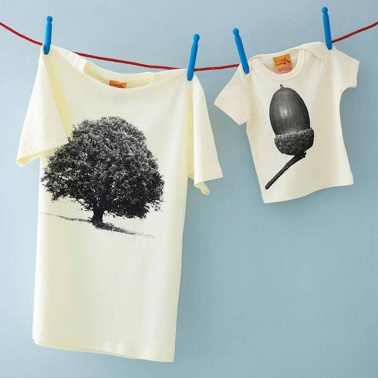 Set Of Oak And Acorn T Shirts