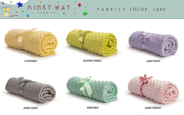 Minky Dots Colors