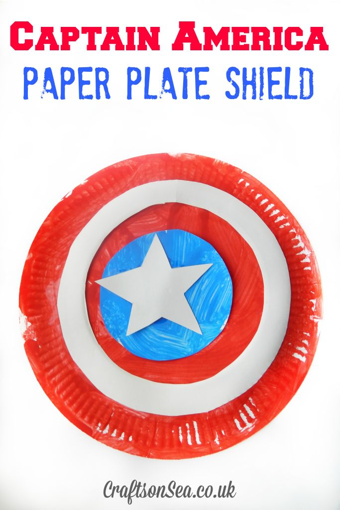 Captain America Paper Plate Shield - Crafts on Sea