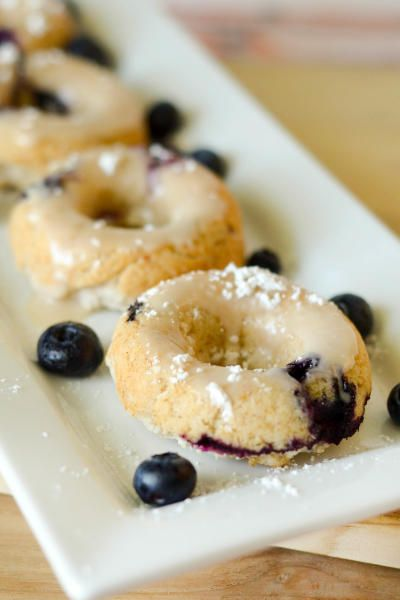 Gluten free baked blueberry donuts make mornings so much sweeter! They're an ideal grab-and-go breakfast.