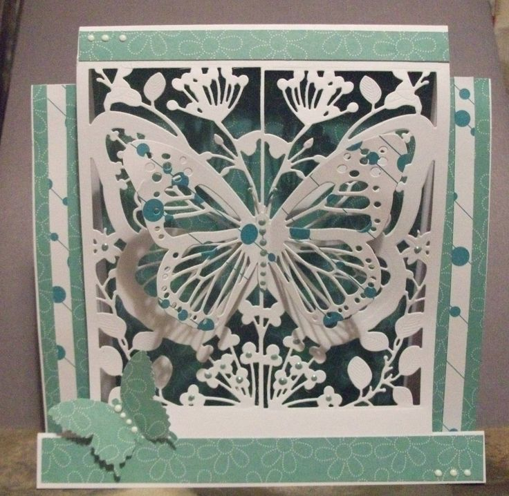 8 x 8 stepper card using the Couture Mariposa Collection.
