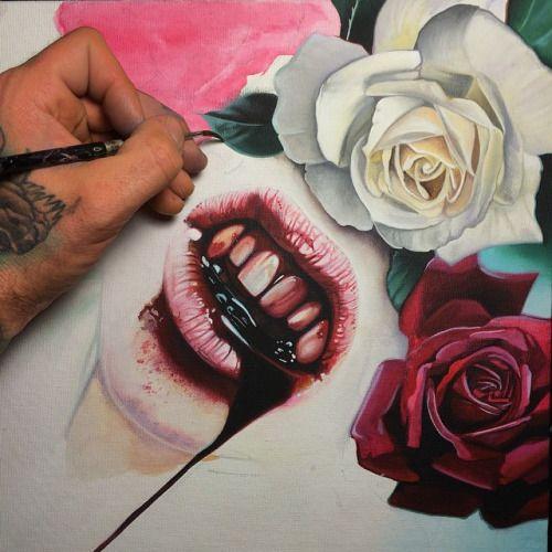Resultado de imagen para pintura sangre tumblr