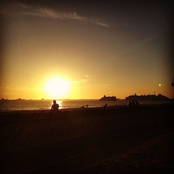 Such a gorgeous sunset! I didn't know Melbourne was so pretty! I'm In love! #melbourne #love #sunset #beach #travel #discover #ocean