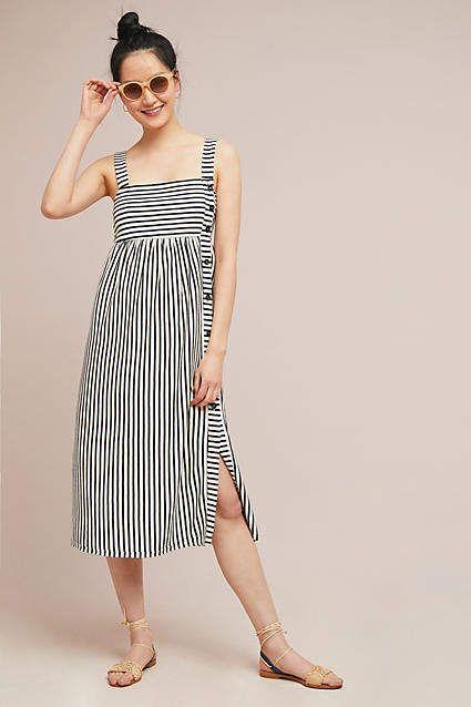 fad587a2a7 Maeve Fiona Striped Midi Dress