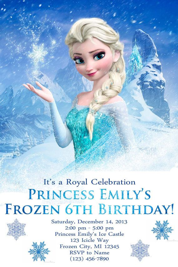 Best Frozen Birthday Images On Pinterest Frozen Birthday - Birthday invitation frozen theme