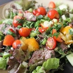Rezeptbild: Rindfleischsalat mit Thai-Dressing