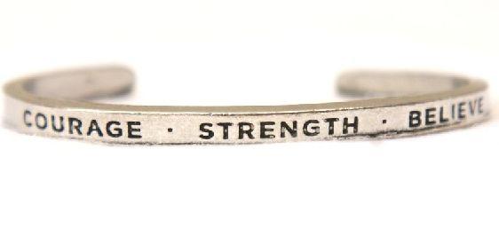 Bracelet Cuff - Courage, Strength, Believe. Find it at www.giftedmemoriesjewellery.com.au