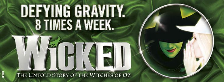 Best dinner package tickets for Wicked in London, playing at the Apollo Victoria Theatre.