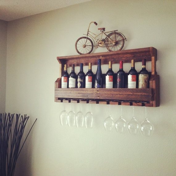 Wine Rack Reclaimed Pallet Wood Pallet Wine by JNMRusticDesigns