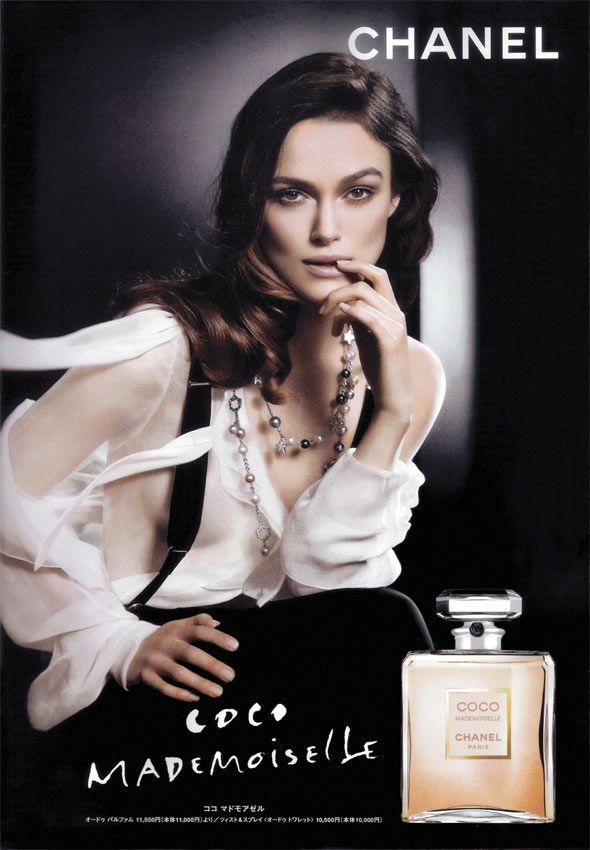 Coco Mademoiselle de Chanel. Publicidad con Keira Knightley