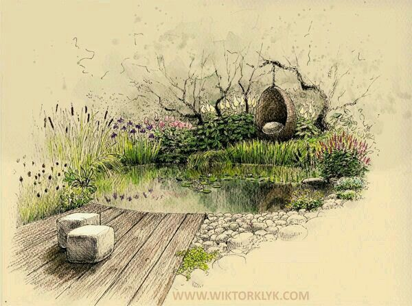 579 best my graphic garden images on pinterest for Landscape architect drawing