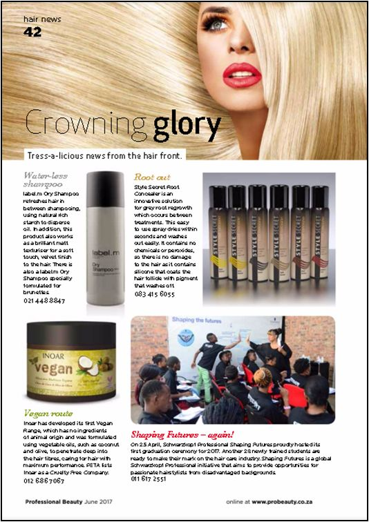 Style Secret_SA has featured in the Professional Beauty magazine in June 2017. Go check it out on page 42. #stylesecret #probeauty #beautytips #rootconcealer #hair