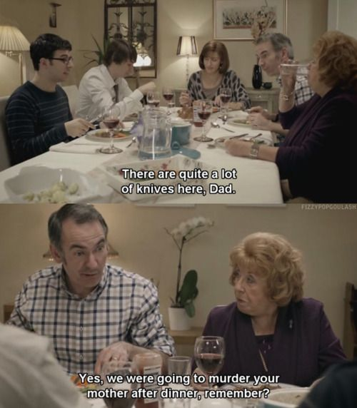 Friday Night Dinner - had me in absolute stitches - watched the whole of series 1 in one go. My family are a bit like this - which is worrying!