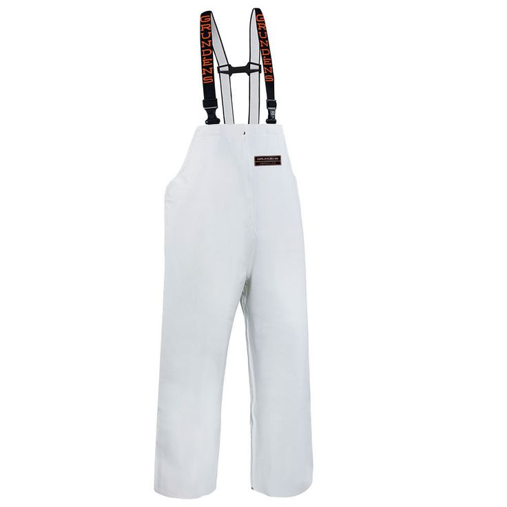 Jackets and Coats 65976: Grundens Herkules 16 Industrial Fishing Trousers Bib Pants - Large - White -> BUY IT NOW ONLY: $115.99 on eBay!