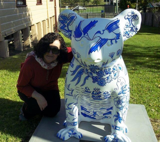 Maritime Museum: Artist & Willow Koala. 50 artworks Hello Koalas Sculpture Trail, Port Macquarie. http://www.hellokoalas.com