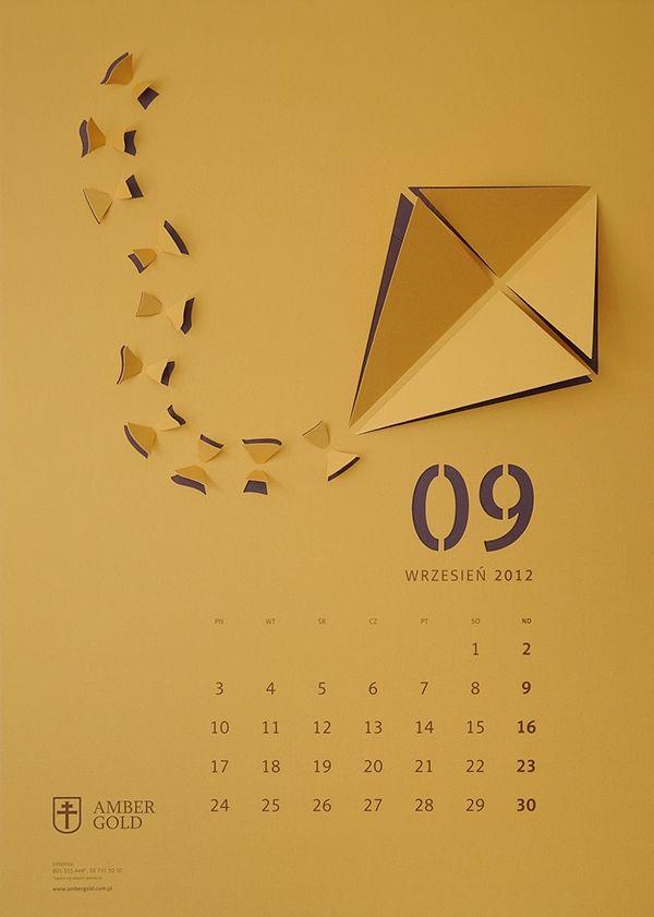 CUT OUT / wall calendar on Behance