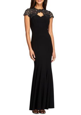 Alex Evenings Women's Metallic Lace Yoke Gown -  - No Size