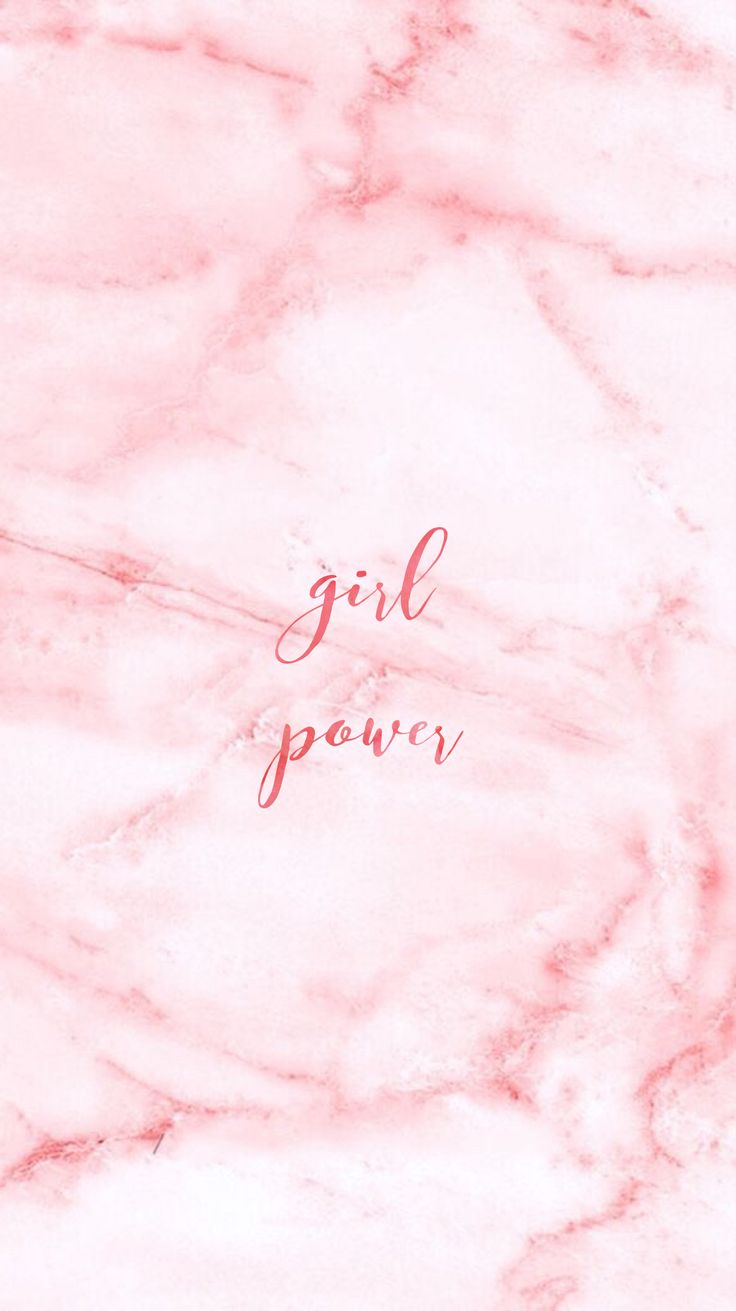 Pink Marble Pretty Positivity™ iPhone Wallpaper @EvaLand