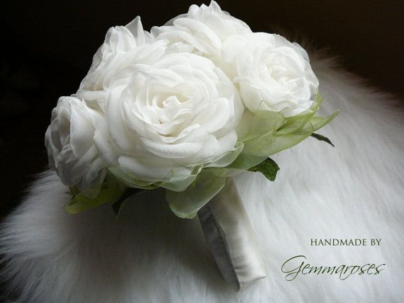 handmade by GEMMAROSES    Fabric Bouquet