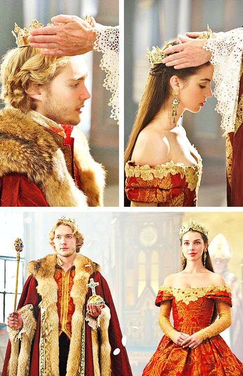 CW's Reign featuring Toby Regbo & Adelaide Kane as King Francis of France and Queen Mary of Scotland. #LongLiveTheKingandQueen #SexyRoyalCouple