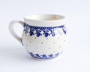 Barrel Mug 0.35l T#PotteryCorner #Boleslawiec #Polishpottery #plates #serving