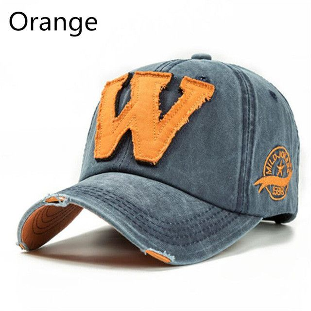 dad hat Embroidery Letter W Baseball Cap Snapback Caps Bone Sports Hat Distressed Wearing Style Outdoor Hat For Men Custom Hats