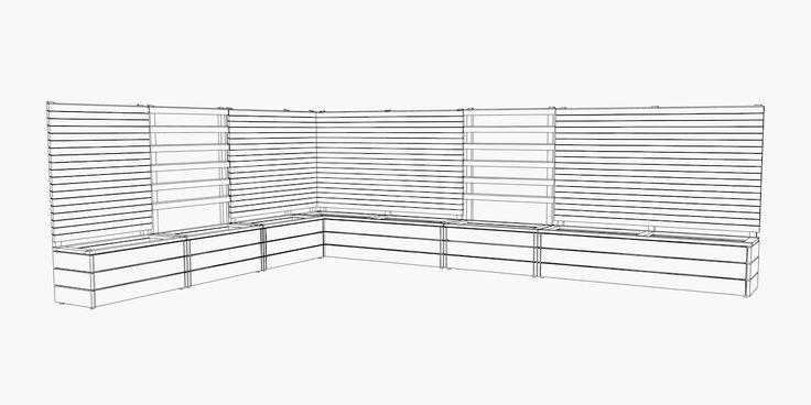 die besten 25 rankgitter mit pflanzkasten ideen auf. Black Bedroom Furniture Sets. Home Design Ideas