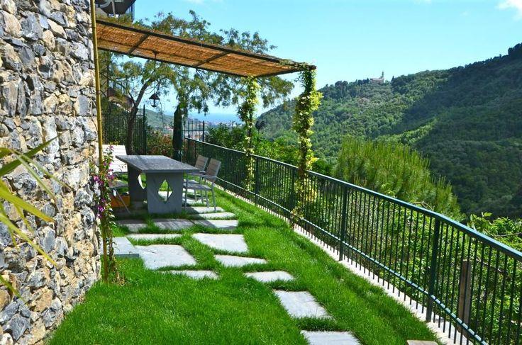Leivi, Portofino, Cinque Terre Rentals  The garden of the upper House