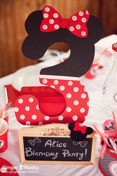 элементы декора для детского праздника в стиле минни маус