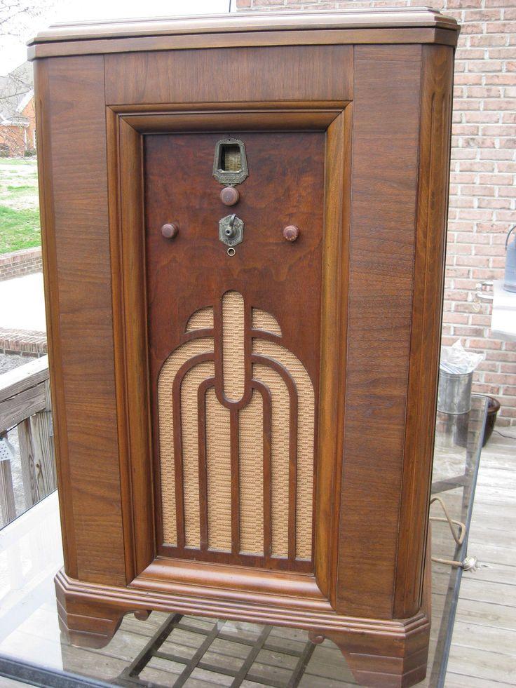 EH Scott Allwave 15 Radio in RARE Westminster Deco Cabinet ...