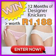 WIN 12 Months of Designer Knickers worth R1,188! | Win Cool Stuff! South Africa