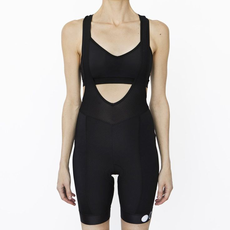 Two Circles Women's Classic Black bib shorts are designed with comfort and performance in mind.  Soft, durable and supportive Italian fabrics and padding provide a well rounded bib short for several hours on the bike. Made in Italy.  #cycling #cyclingkit #bibshorts #womenscycling #cyclingapparel