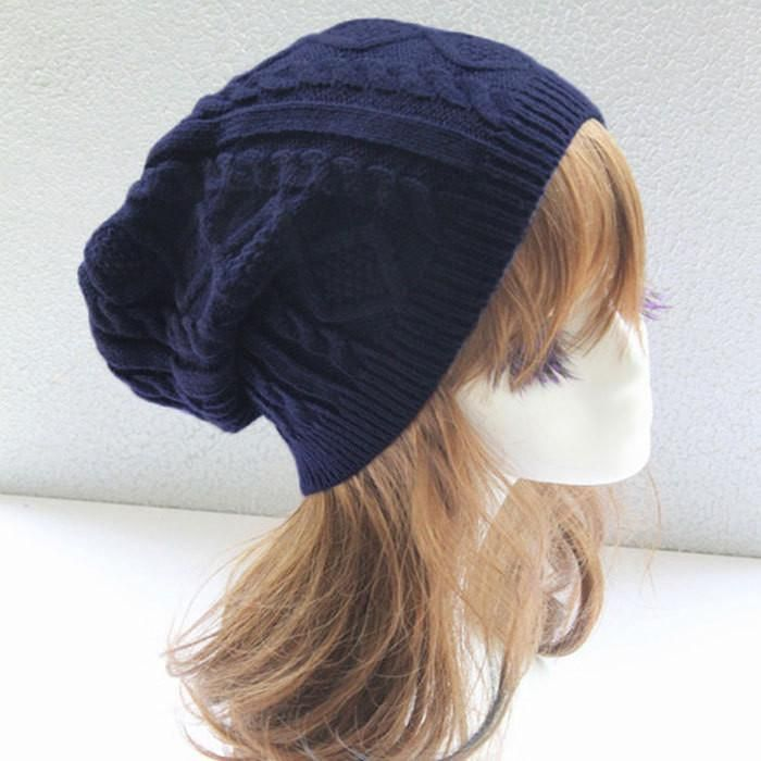 Women New Design Caps Twist Pattern Women Winter Hat Knitted Sweater Fashion beanie Hats For Women 6 colors gorros Y1 Q1 – That is toooo CUTE!!