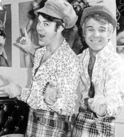 Two Wild & Crazy Guys (Festrunk Brothers) played by Dan Aykroyd and Steve Martin on Saturday Night Live