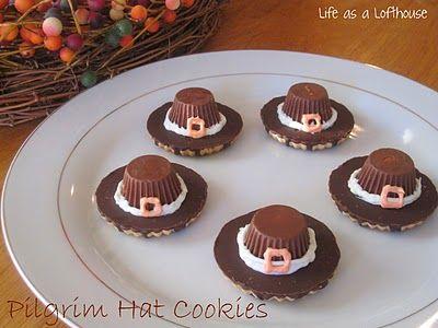 Pilgrim Hat Cookies - Life In The Lofthouse