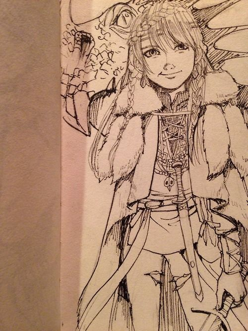 kiasherria: I was just wondering how will Astrid look like when she lets her hair down.