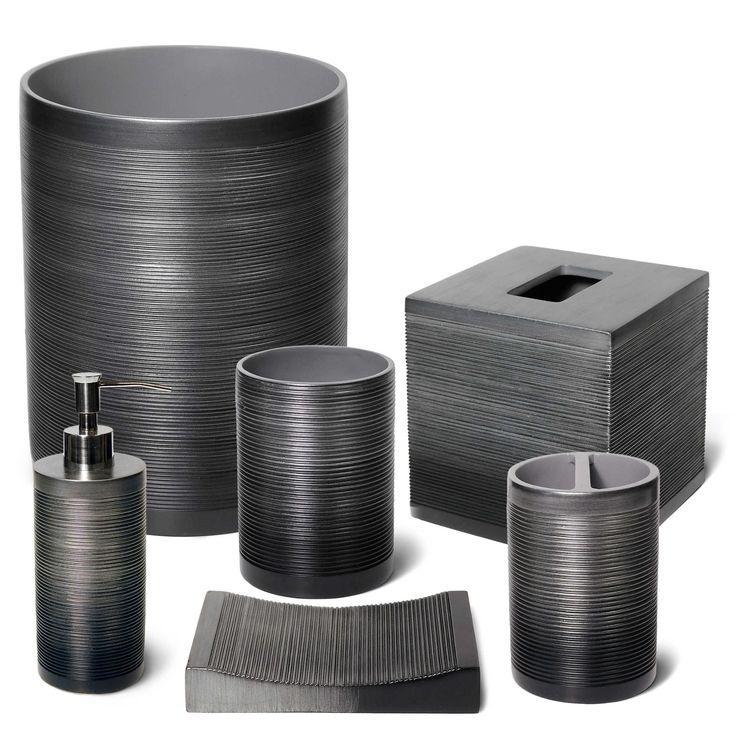 Veratex Ridley Pewter Bath Ensemble Bathroom Accessories Bathroom Bath Accessories