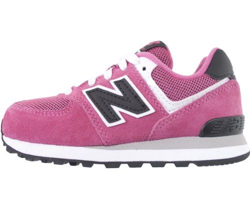 New Balance KL574 Pre Lace-Up Running Shoe (Little Kid),Pink/Black,2 M US Little Kid. Multi-colored. Origin: Vietnam. Rubber-sole. Rubber sole. Closed-toe. (width: 100), (height: 100) hundredths-inches. 75% Leather and 25% Mesh. Lace-up. Canvas.