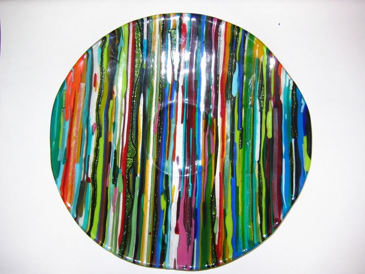 Fused Glass Bowl by Marise Mill