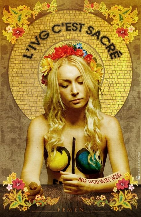 Loi sur la famille: une Femen affiche sa protestation - charentelibre.fr