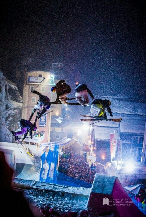 Red Bull Play street Bad gastein Austria by mine creative #badgastein #austria #redbull #skiing #playstreet