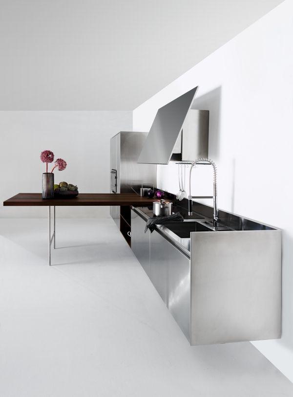 SLIM designed for @Elmar cucine  cucine   #Palomba #design #steel