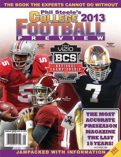 college football 2013 | 2013 phil steele s college football preview order your 2013 phil ...